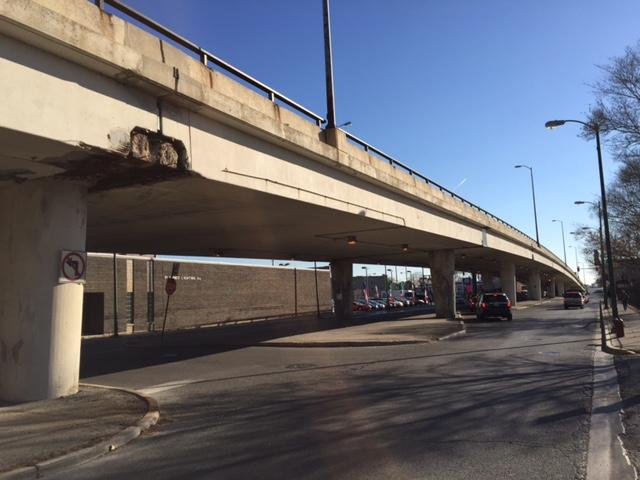 Sewer work related to the removal of the viaduct over Belmont Avenue will affect commutes for students and staff as construction extends north from Logan to Addison in December.