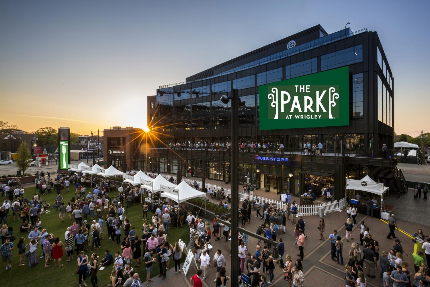 The Park at Wrigley opened April 10 and debuted one of its first events, Craft and Cuisine, on May 13. (Photo Courtesy of The Park at Wrigley)