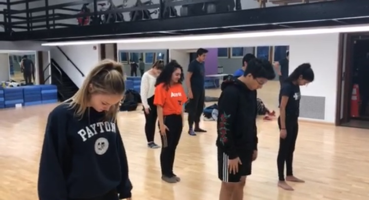 India Club practicing in the dance room. This year they received the second place spot with a score of 39.3 (Aisha Sayeed)