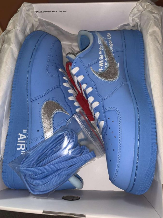Jacob Bozek's pair of Air Force 1 Lows that Off-White and the Chicago Museum of Contemporary Art collaborated on.