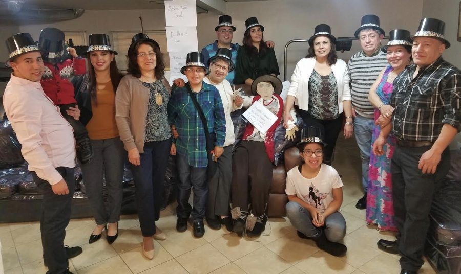 Giselle Carrion and her family together at one of their annual Ecuadorian holiday parties.