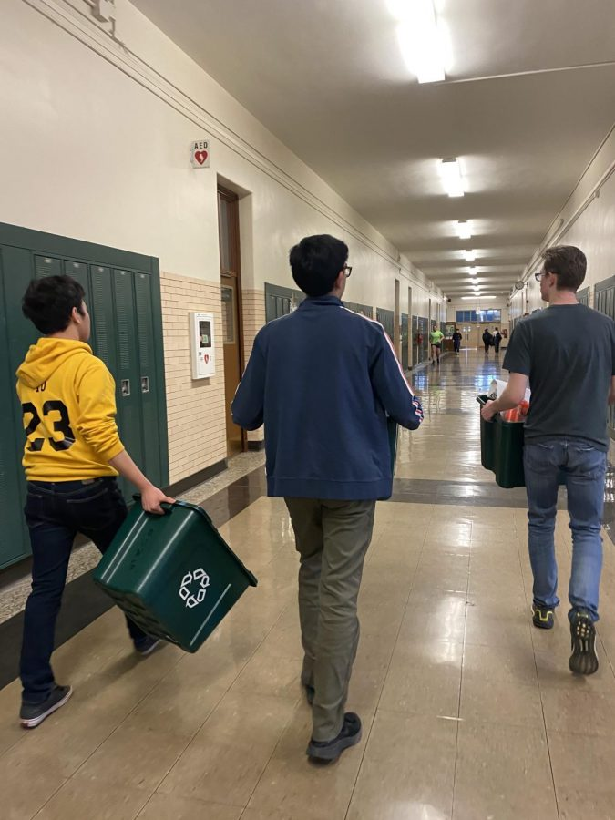 Members of Environmental club can be found walking around Lane collecting trash on Mondays and Fridays, when they meet.