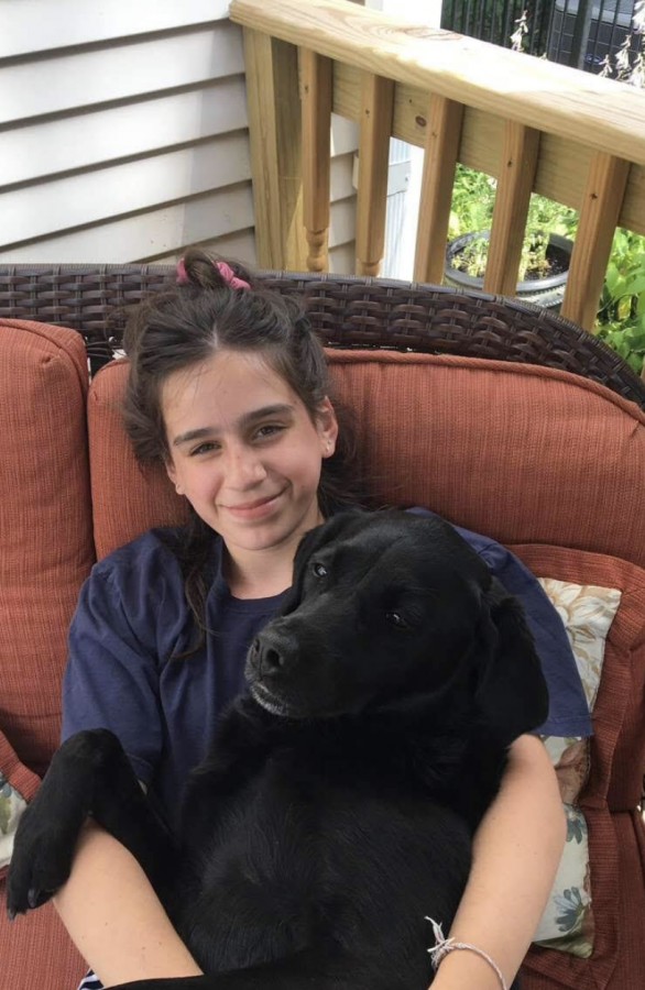 Gabriella Lujan is grateful that her dogs, Riley and Ruby, can keep her company when staying at home during the shelter-in-place order. (Photo courtesy of Gabriella Lujan)
