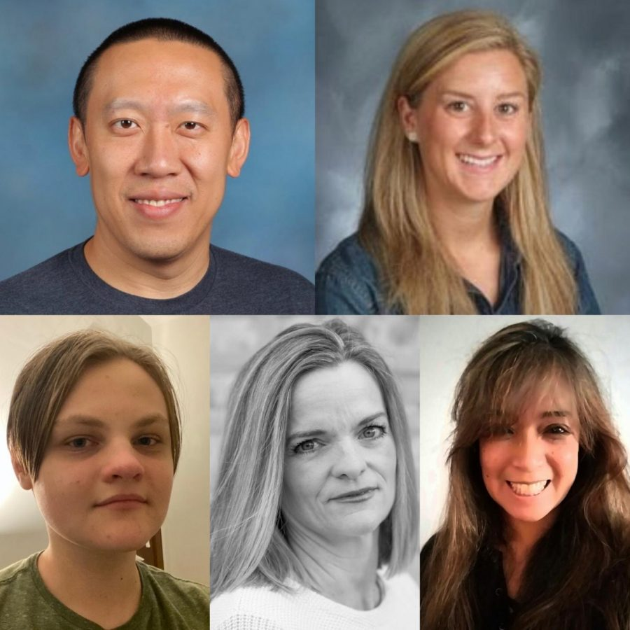 The LSC candidates for teacher, student and community representatives (Clockwise from top left: Daniel Law, Katharine Gomez, Ana Borja-Scales, Maureen George and William Cashman)