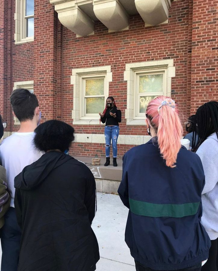 On Oct. 14, about 20 Lane students gathered on campus to protest the school's handling of racism among students. This protest comes after backlash following an advisory lesson about the Black Lives Matter movement that students called lackluster and performative.