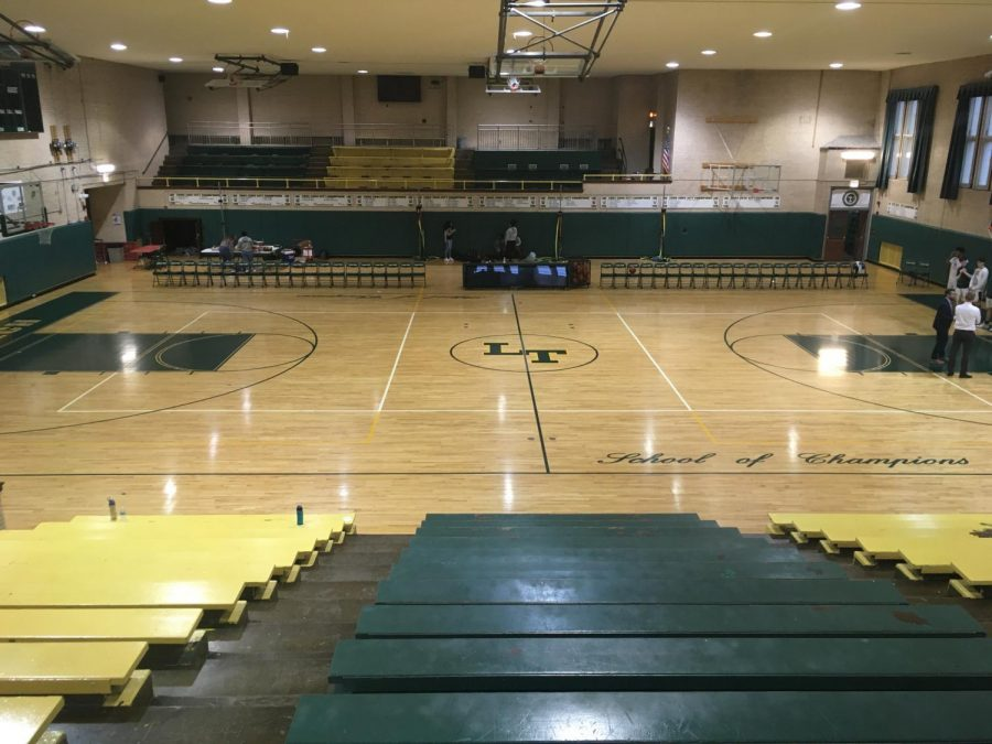 Lane Gymnasium before a January 15 varsity boys basketball game against    Westinghouse. A new proposal is hoping to add shot clocks to high school gyms across the state, but the decision is still left to be decided by the IHSA Board.