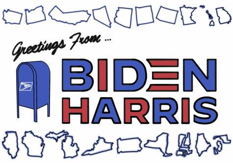 President-Elect Joe Biden and Vice President-Elect Kamala Harris won the presidential election with 306 electoral votes and about 78 million popular votes, roughly six million more than President Donald Trump. (Illustration by Ryan Fairfield)