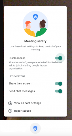 Teachers can now quickly control their meeting safety and settings on Google Meets.