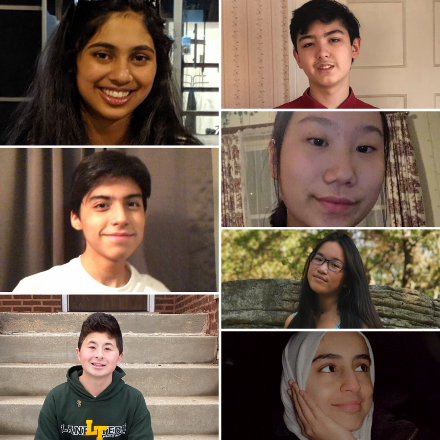 Clockwise+from+top+left%3A+Sahana+Singh%2C+senator%3B+David+Schmidt%2C+senator%3B+Shumei+Gong%2C+senator%3B+Megan+Wong%2C+vice+president%3B+Huma+Ughratdar%2C+secretary%3B+Sean+Groh%2C+president%3B+Andrew+Bonilla%2C+Student+Council+Executive+Board+vice+president.+%28Photos+courtesy+of+students+pictured%29