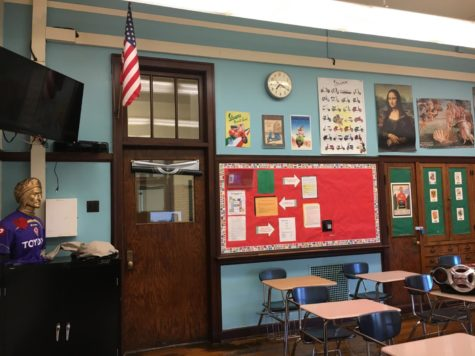 Room 352, shared by Ms. Paganelli and Ms. Tacke, where all the Italian classes took place. (Photo courtesy of Ms. Paganelli)