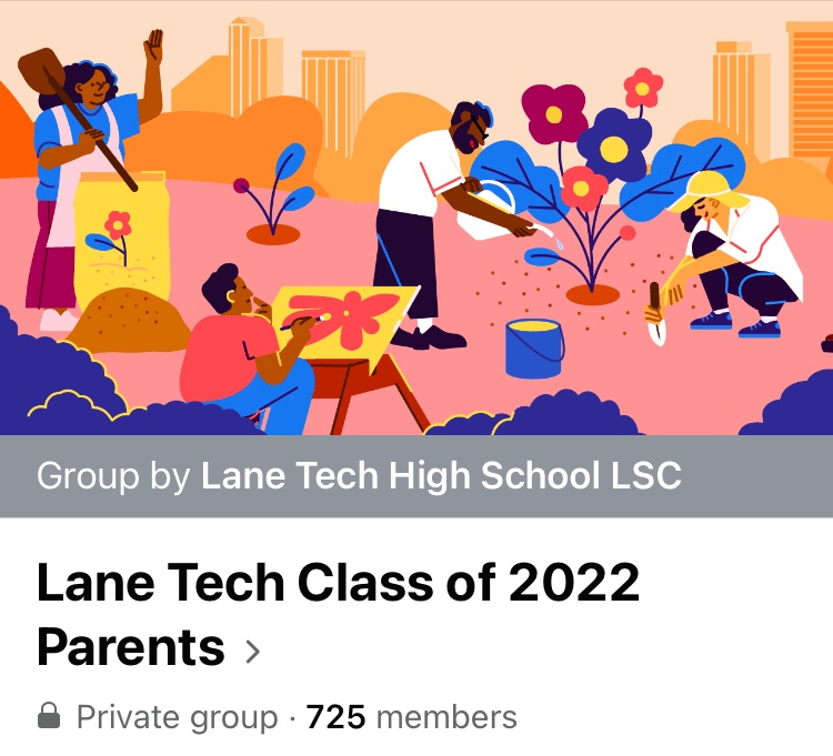 Screenshot from the Lane Tech Parents Class of 2022 Facebook page.