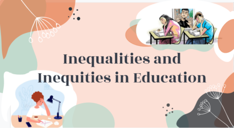 """On April 7, Lane's BIPOC Student Committee, this year in charge of planning advisory lessons, debuted a presentation entitled """"Inequalities and Inequities in Education."""" It concerned matters such as dress codes, achievement gaps and inequities in school funding. (Screenshot from presentaion)"""