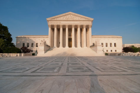 """The court is set to decide Mahanoy School District V. B.L in June. (""""Supreme Court,"""" Mark Fischer via Creative Commons)"""