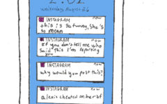 An illustration of what my phone looked like during the summer while running my Instagram drama account.