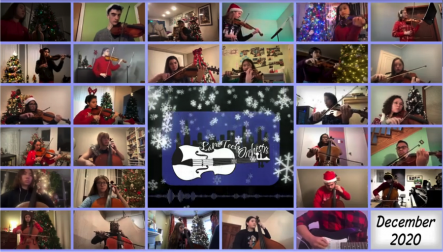 Sinfonietta Christmas Eve performance, virtually seen on Youtube in December 2020. (Todorovic seen on upper right corner)
