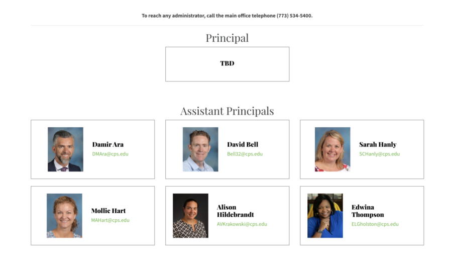 At the June 3 regular LSC meeting, the council unveiled two candidates who will interview to fill the school's principal position. Former principal Brian Tennison left his role on June 1. (Screenshot from Lane Tech website)